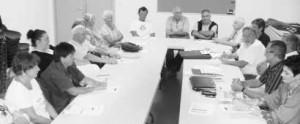 Jüngste Sitzung des Partnerschaftskomitees. Zweiter von rechts: Vivian Pichard. Bild: Milandre
